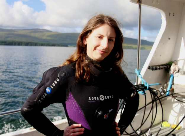 Florine World Aventure Divers dry suit diving Scotland
