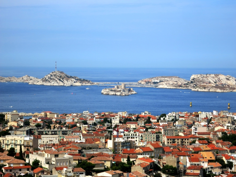 view from the top of Marseille Frioul islands