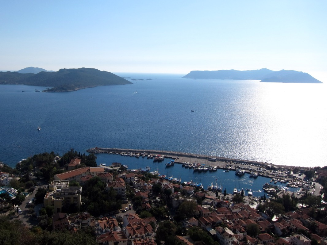 sea view from the top Kas
