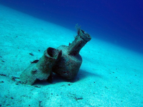 underwater amphora Kas Turkey