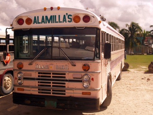 Chicken bus Belize Belmopan