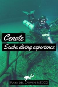 Cenote scuba diving experience Playa del Carmen Mexico