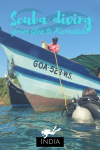 scuba diving from Goa to Karnataka India