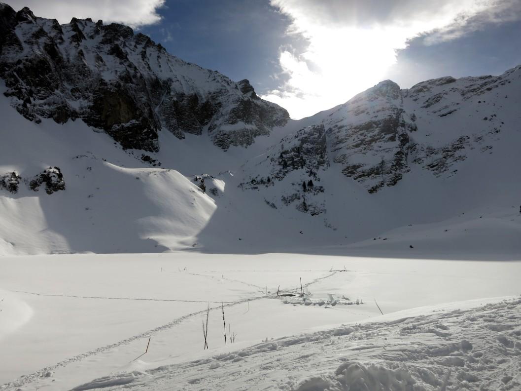 ice diving Lioson Switzerland