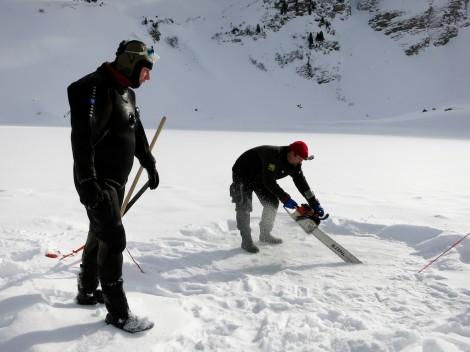 cutting ice saw chain Lioson Switzerland