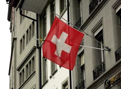 Swiss flag in Bern