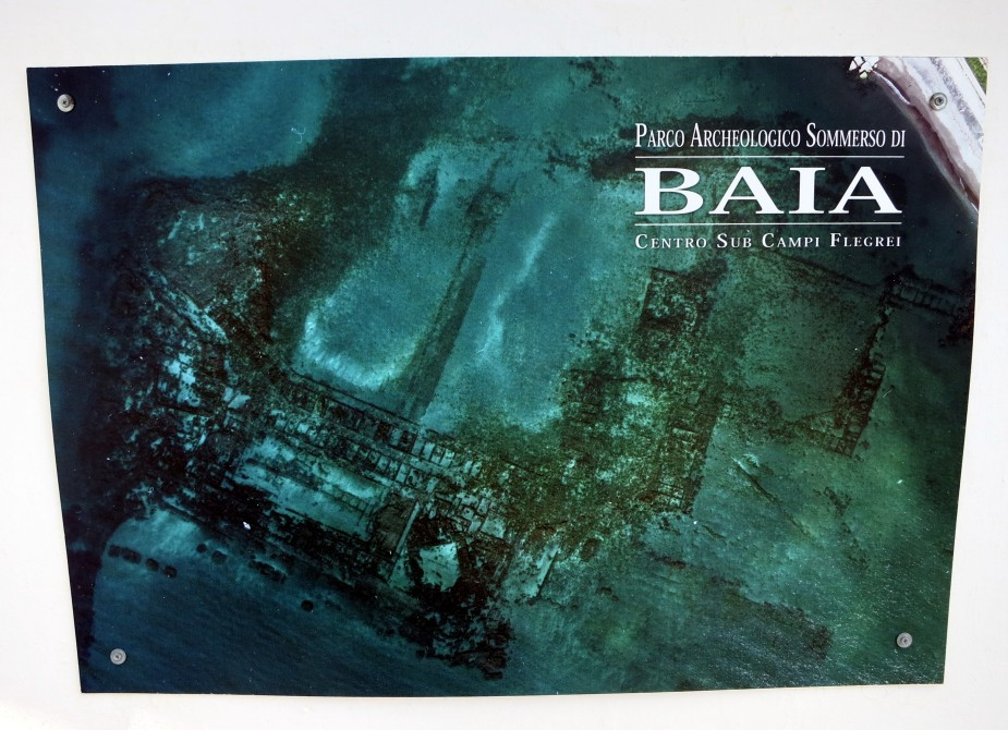 Baia underwater park from the sky