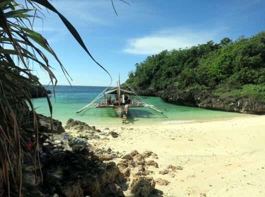 Carnaza island Leyte Philippines