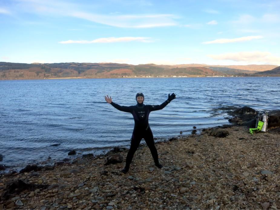 drysuit diving in Loch Fyne Scotland