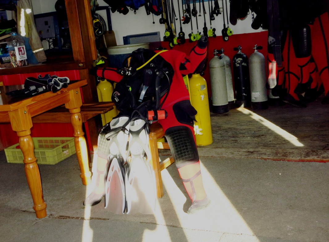 my diving equipment Ushuaia Argentina