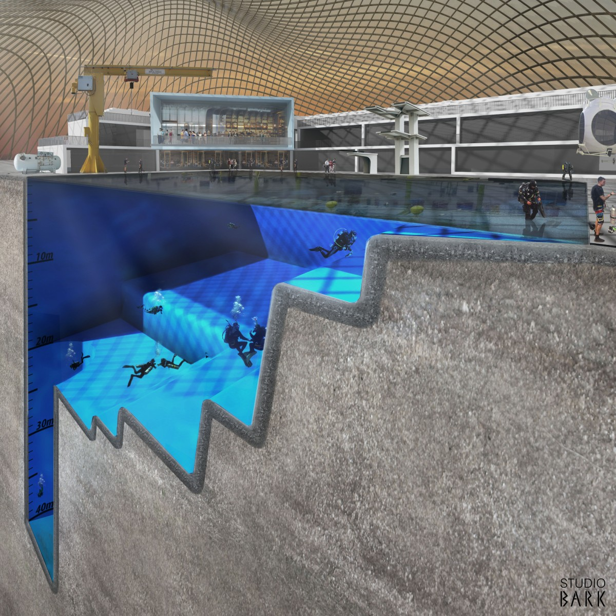 News in 2016 the world s deepest pool will be in the uk world adventure divers - The sky pool a deluxe adventure ...