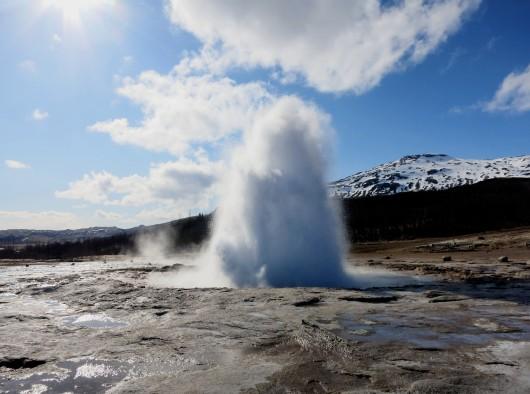 Strokkur Geyser, Geysir geothermal Park Iceland Golden Circle