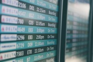Airport Flight departure screen