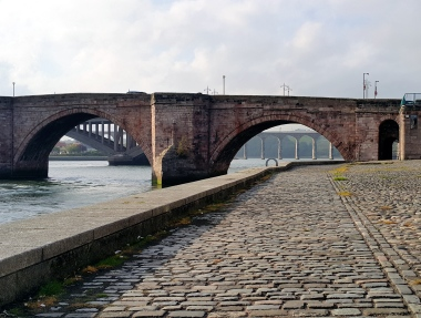 Berwick-upon-Tweed Quay Bridges England UK