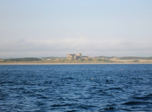 View of Bamburgh Castle scuba diving Farne Islands England UK