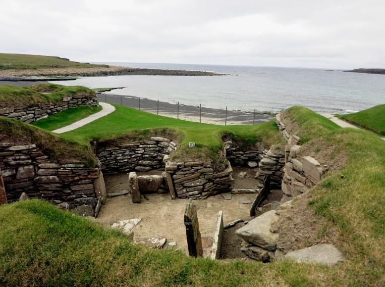 Skara Brae Archeological site Orkney Scotland