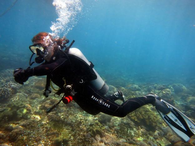 Scuba diving Manta Point Nusa Lembongan Bali Indonesia