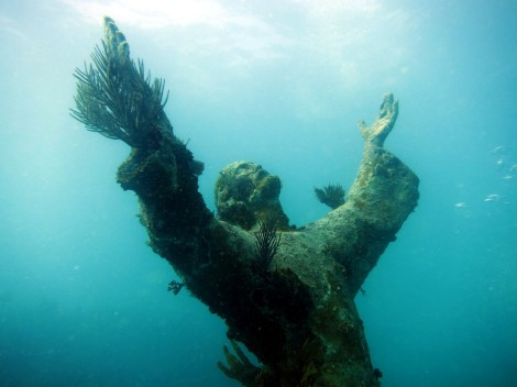 Christ Statue Scuba diving Key Largo USA