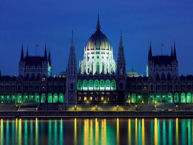 Hungarian Parliant by night Budapest