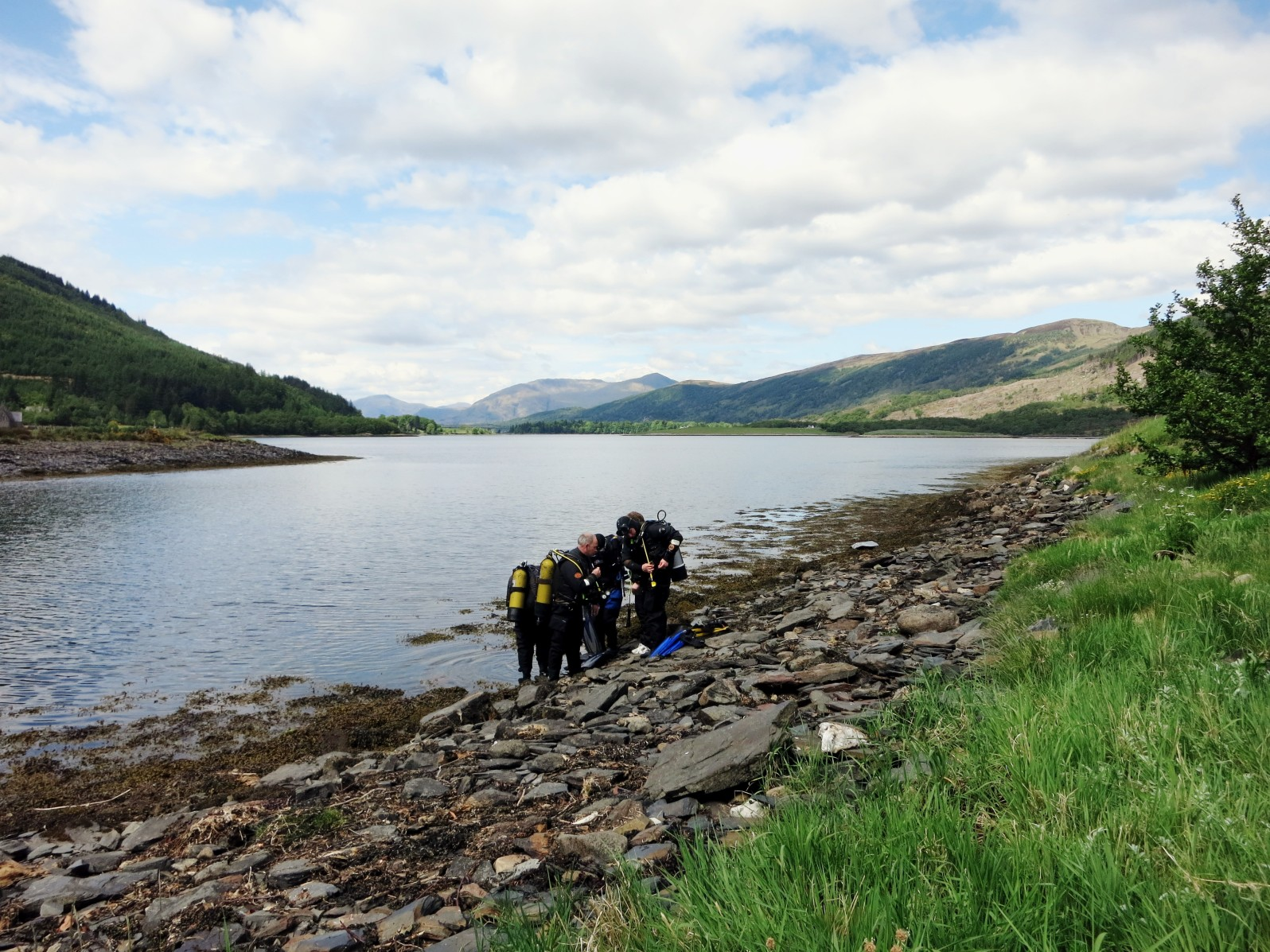 Scuba diving the Slates Ballachulish Loch Leven Scotland