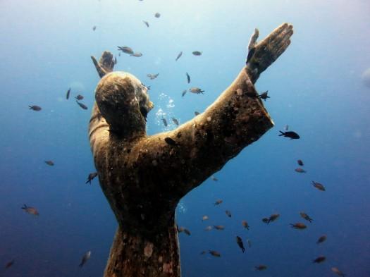 Christ of the Abyss / Cristo degli Abissi in San Fruttuoso Portofino Italy