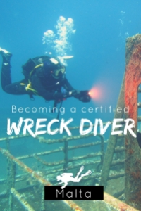 Becoming a certified wreck diver in Malta