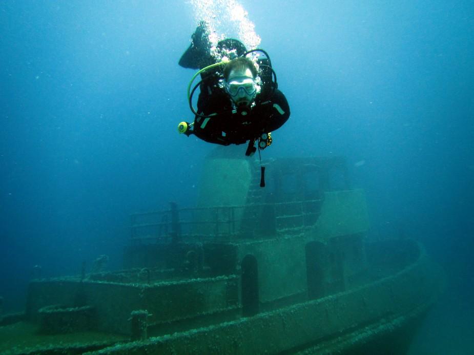 wreck diving training in Malta