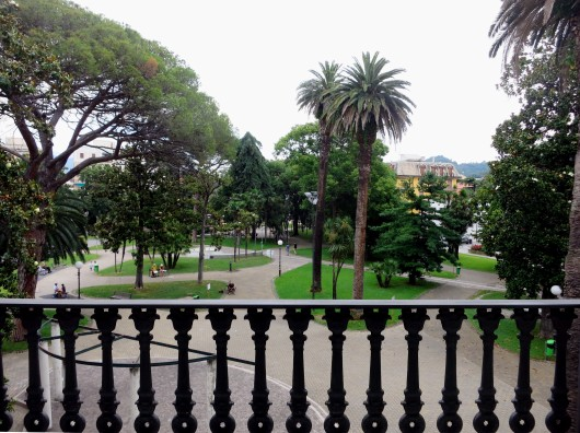 View from my room Grande Albergo Hotel Sestri-Levante Liguria Italy