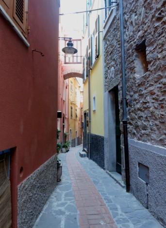 Nodoby in the back streets of Manarola Cinque Terre Italy