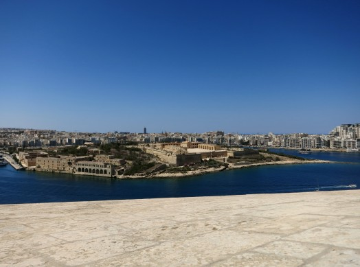 View from Hastings gardens Valetta Malta