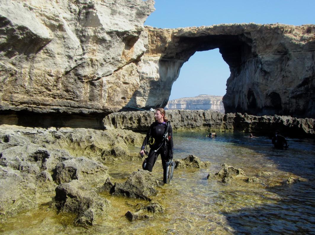 Scuba diving Blue Hole Gozo Malta