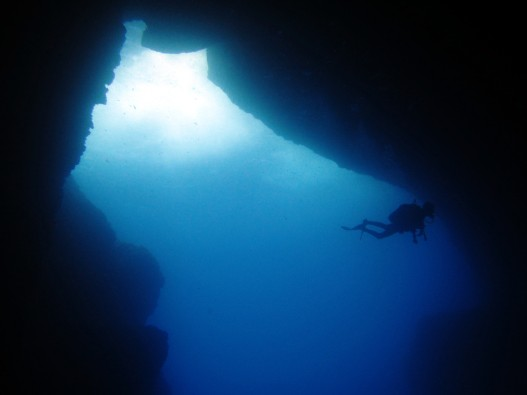 Scuba diving Cathedral Cave Gozo Malta