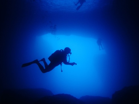 Scuba diving Cathedral Cave Gozo Malta