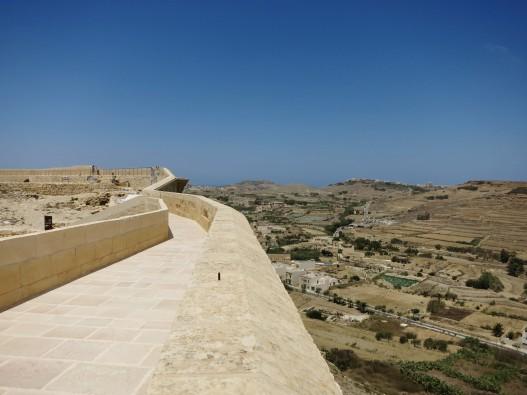 View from the wall Victoria Citadel Gozo Malta