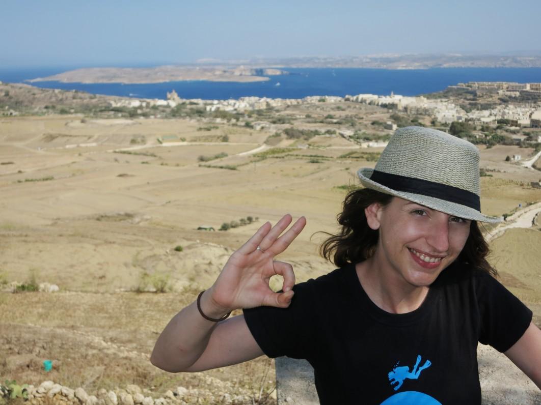 Nadur view point Gozo Comino Malta