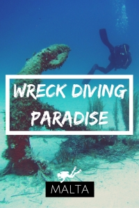 Wreck diving paradise Malta in South Europe