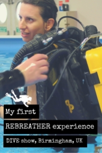 My first Rebreather experience DIVE show Birmingham UK