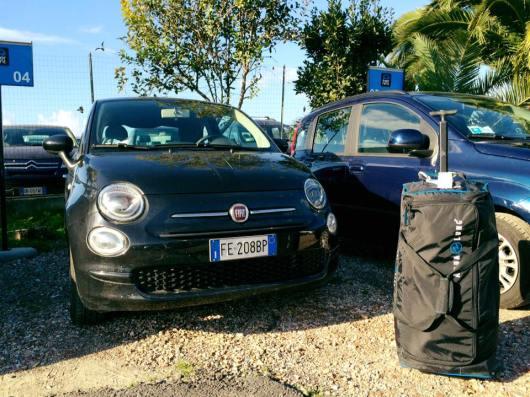 My Italian car for the weekend in Capodacqua