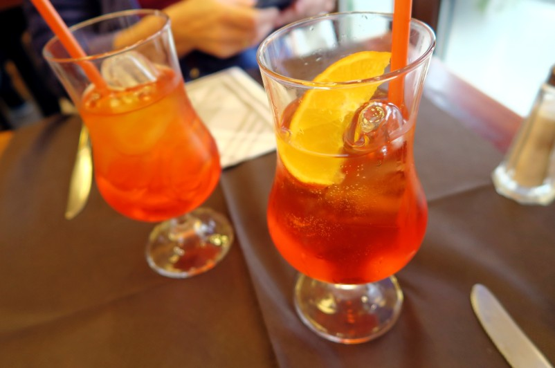 Aperol Spritz, Restaurant Rome near Coliseum