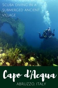 Scuba diving in Capodacqua Italy