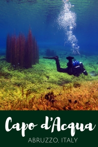 Scuba diving in Capodacqua Italy