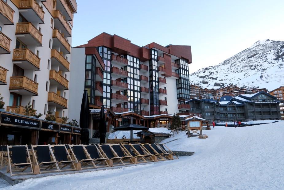 Val thorens ski resort French Alps