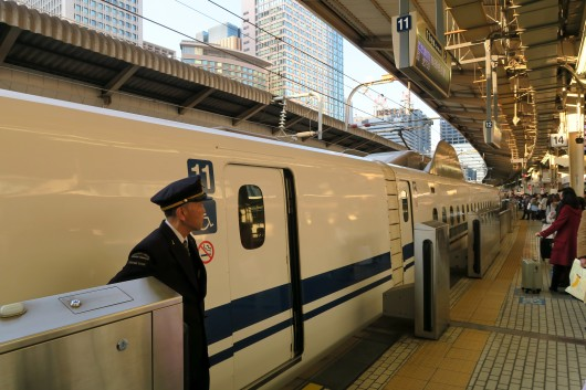 Taking the train from Tokyo to Izu Japan - Tokyo Main Station