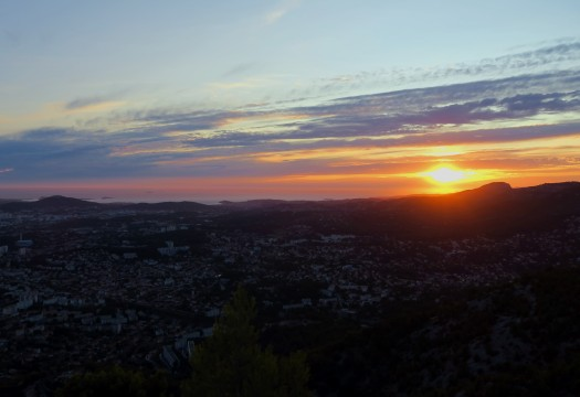 Sunset at Mount Faron Toulon France