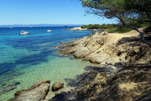 Private creek for a picnic Porquerolles Island French Riviera