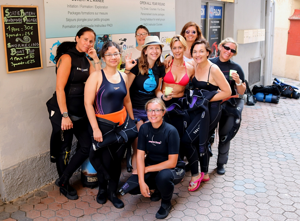 PADI Womens Dive Day Golfe Juan French Riviera