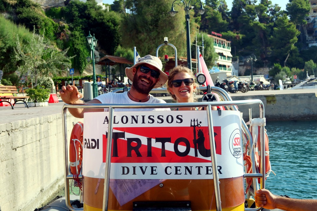 Scuba diving with Triton Dive Center Alonissos Greece