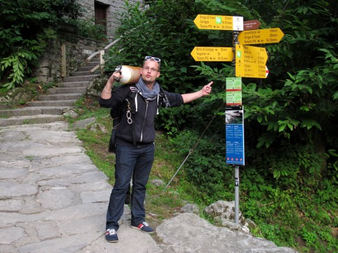 Logistics of scuba diving in Verzasca River Switzerland