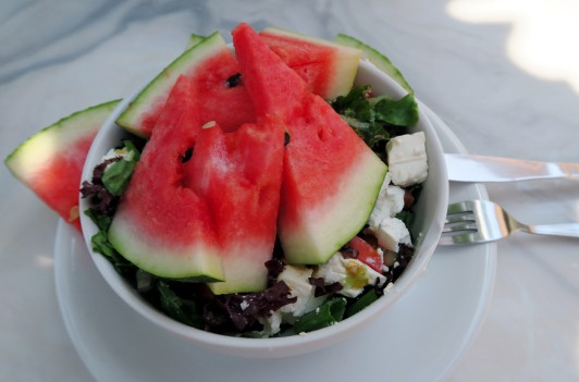 Watermelon Feta Salad at Paradise Hotel Alonissos Greece