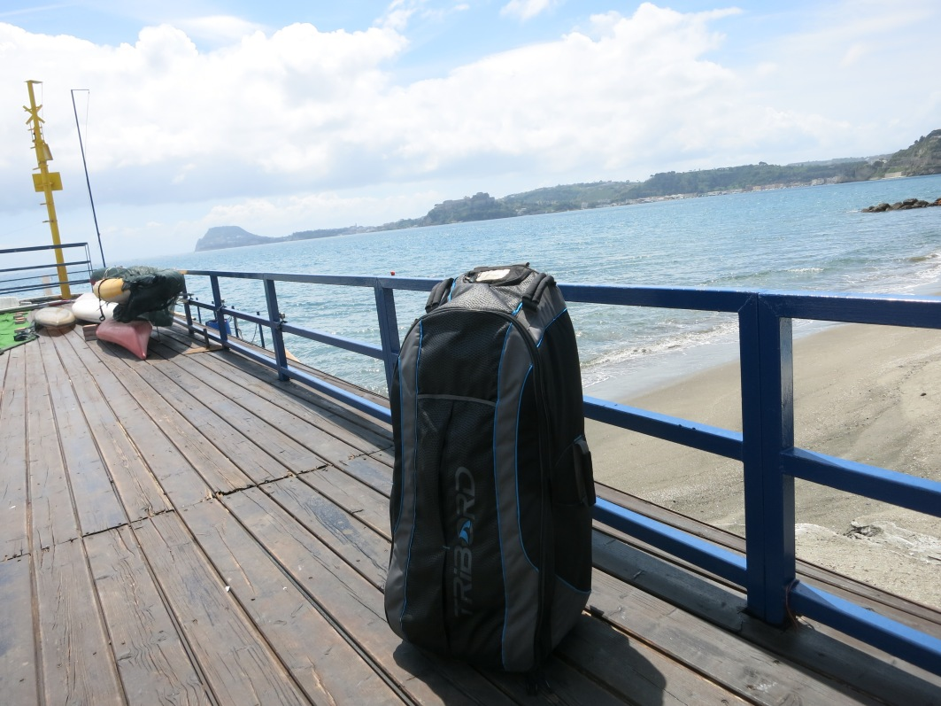 Scuba diving bag in Pozzuoli Italy